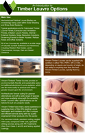 Timber Louvre Options Product Brochure