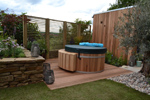Cedar Decking - No2 Clear & Better Patio Grade - 40f x 90f Rounded four edges