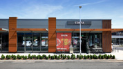 Project: Costa - Gallagher Retail Park, Wednesbury. Species: Accoya (Coated). Timber Sections: 42f x 185f PAR eased edges / 55f x 55f PAR eased edges. Plywood backing:18mm  plywood � Colour: Merlin Grey